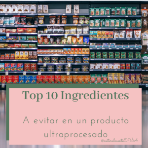 Ingredientes a evitar